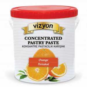 orange concentrated pastry paste