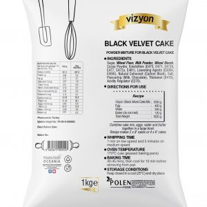 Black Velvet Cake mix pack back