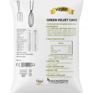 Green Velvet Cake mix pack back