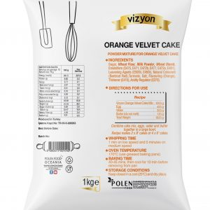 Orange Velvet Cake mix pack back