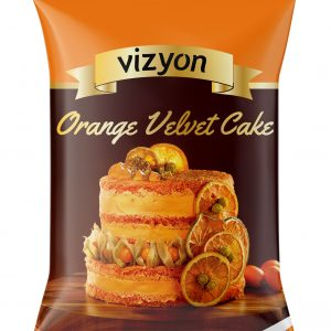 Orange Velvet Cake mix pack front