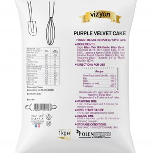 Purple Velvet Cake mix pack back