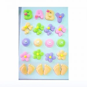 Pastel Baby cake decoration