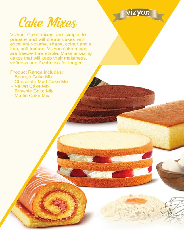 Cake Mix product flyer