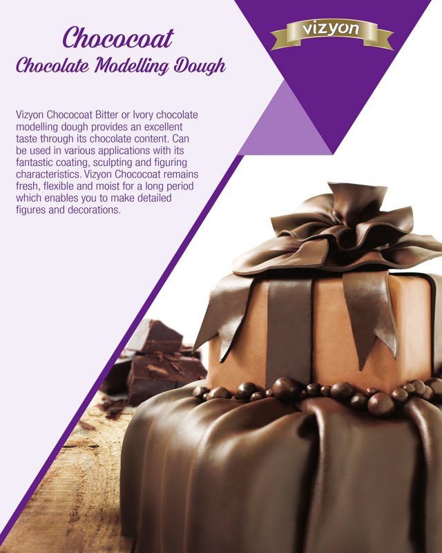 Modelling Chocolate Paste product flyer