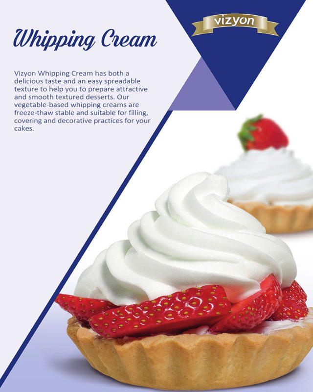Whipping Cream product flyer