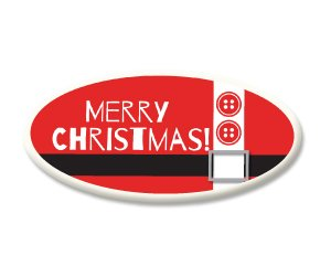 Merry Christmas Santa Suit Sugar Plaques
