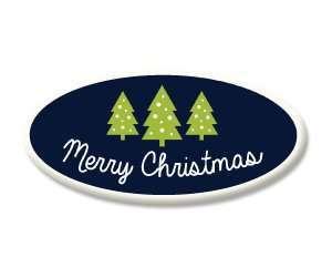 Merry Christmas Tree Sugar Plaques