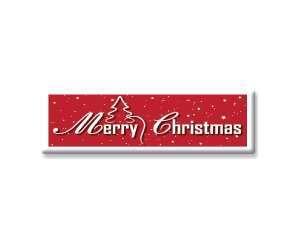 Merry Christmas Sugar Plaques